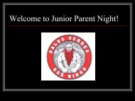 Junior Parent Night (Printable PDF) - Palos Verdes High School