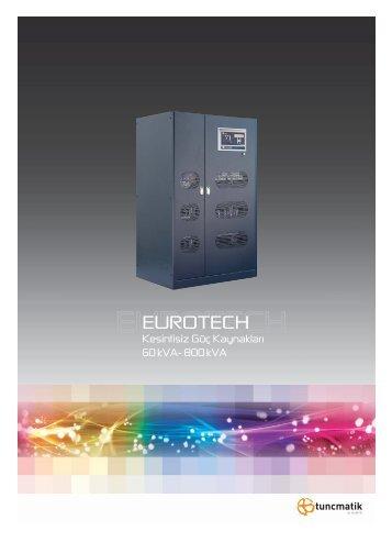 Eurotech Türkçe Broşür - Tuncmatik