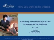 Advancing Peritoneal Dialysis Care in ... - BC Renal Agency