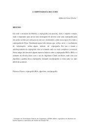 A CRIPTOGRAFIA RSA E DES RESUMO Em todo o momento da ...
