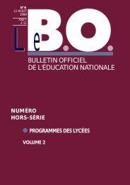 programmes - Ministère de l'Éducation nationale