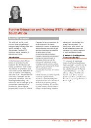 Further Education and Training (FET) institutions in South Africa