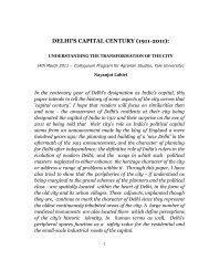 DELHI'S CAPITAL CENTURY (1911-2011): - Yale University