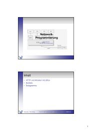 Netzwerk- Programmierung Inhalt - Telematik TH Wildau