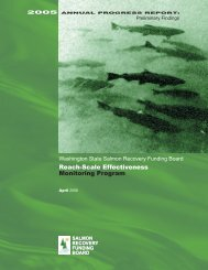 Reach-Scale Effectiveness Monitoring Program - Washington State ...