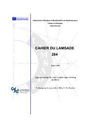 Preliminary version - Université Paris-Dauphine