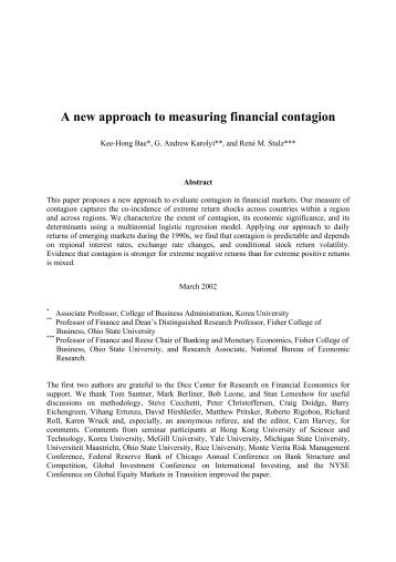 A new approach to measuring financial contagion