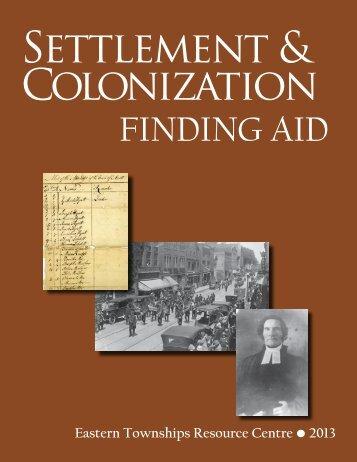 colonization & settlement - ETRC