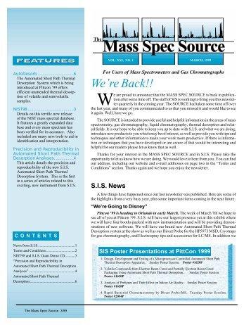 March 1999 - Scientific Instrument Services, Inc.