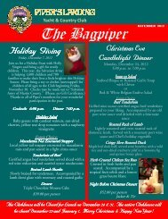 December 2012 Bagpiper - Piper's Landing Golf & Country Club