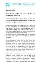 Presseinformation - WILDWASSER Chemnitz