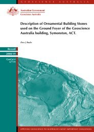 Description of ornamental building stones used in the ground foyer ...
