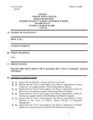 Town Council March 14, 2008 Agenda 1 AGENDA ... - Town of Vernon