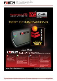 2011 Product Compatibility Guide -
