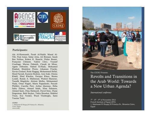 Revolts and Transitions in the Arab World - Centre de Recherche ...