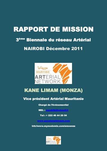 RAPPORT DE MISSION - Arterial Network