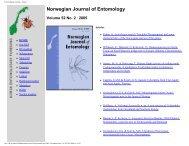 Entomologisk forening - Norge - Norsk entomologisk forening
