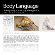BODY LANGUAGE Brochure (pdf) - Thavibu Gallery