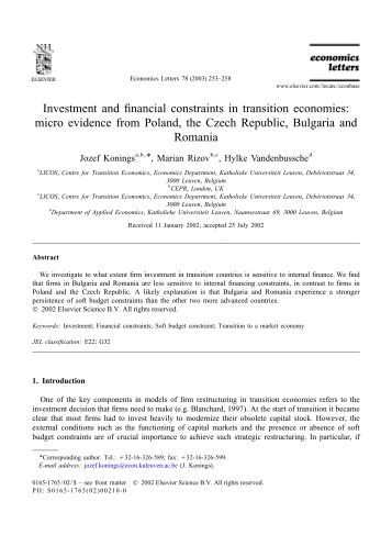 transition economies Strengthening transition economies kristin morse and raymond j struyk  in transition countries these pressures are even more acute, as they are accompa.