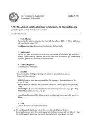 Kursplan - Institutionen för lingvistik vid Göteborgs universitet