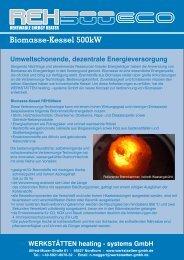 REH500eco Biomasse-Kessel 500kW - werkstaetten gmbh