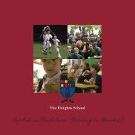 Rooted in Tradition, Growing in Wonder - The Heights School