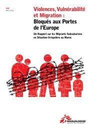Violences, Vulnérabilité et Migration : Bloqués aux Portes de l'Europe