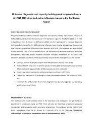 Molecular diagnostic and capacity building workshop on ... - Caribvet