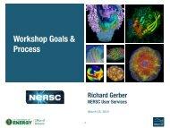 Workshop Goals & Process - NERSC