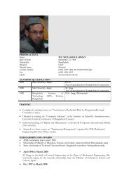 Dr. Md. Mozasser Rahman - TATI University College