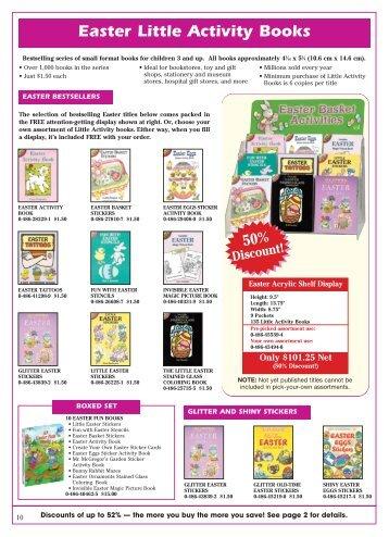 Easter Little Activity Books - Dover Publications