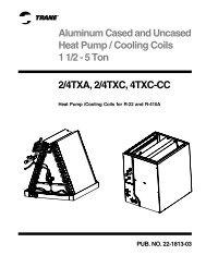 Trane Aluminum Cased and Uncased Heat Pump/Cooling Coils 1-1 ...