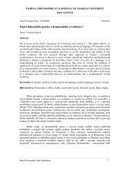 Pojetí dokonalého jazyka u Komenského a Leibnize I