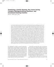 Sustaining a Family Dynasty: Key Issues Facing ... - 3 Pillars Network