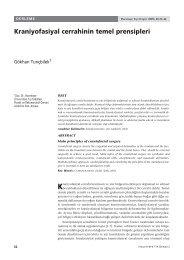 Kraniyofasiyal cerrahinin temel prensipleri - Hacettepe Üniversitesi ...