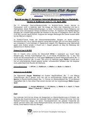 Bericht zu den 17. Schweizer Interclub-Meisterschaften im ... - RTCA