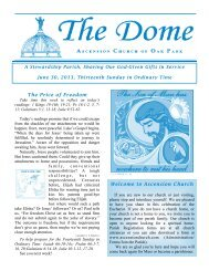 June 30, 2013 - Ascension Catholic Church