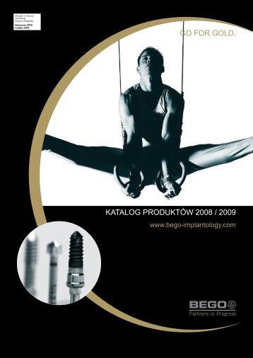 GO FOR GOLD. KATALOG PRODUKTÓW 2008 / 2009 - Denon Dental