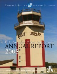 2008 USCTA Annual Report - Contract Tower Association