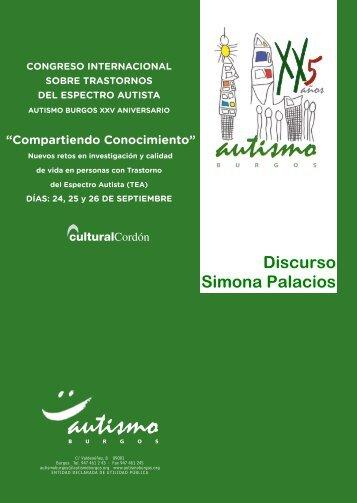 Discurso Simona Palacios - Autismo Burgos