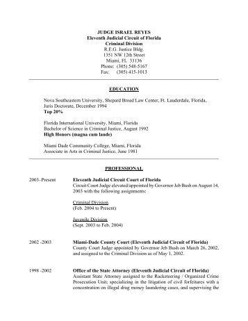 Curriculum Vitae - Shepard Broad Law Center - Nova Southeastern ...