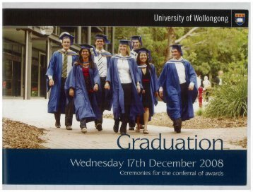 Booklet - Library - University of Wollongong