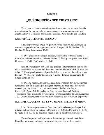 ¿QUÉ SIGNIFÍCA SER CRISTIANO? - La Iglesia de Cristo