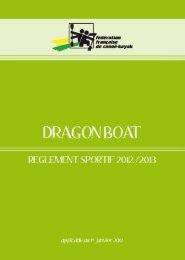 Réglement sportif FFCK Dragon Boat
