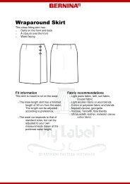 Modification Wraparound Skirt - My Label 3D Fashion Pattern Software