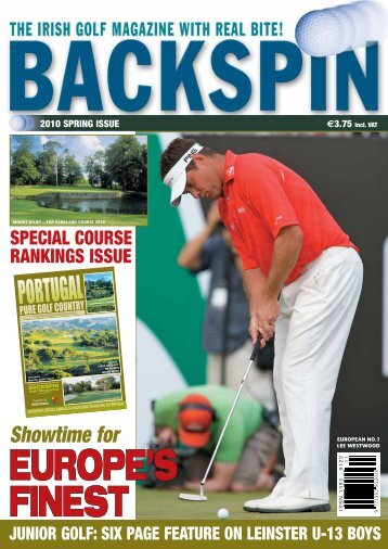 2010 SPRING ISSUE 3.75 Incl. VAT - Backspin Golf Magazine