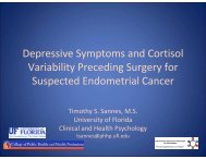 Depressive Symptoms and Cortisol Variability - Society of ...