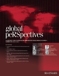 global peRSpectives Newsletter - Summer 2012 - Reed Smith