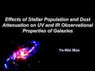 Effects of Stellar Population and Dust Attenuation on ... - (SFIG) of PMO