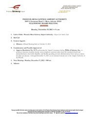 November 19, 2012 Agenda - Phoenix-Mesa Gateway Airport